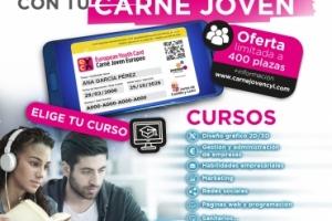 Imagen para ¡PLAZAS AGOTADAS! Cursos online gratis con tu Carné Joven